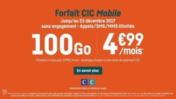 Forfait Telephone Cic 100go